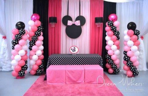 Fiesta De Minnie Mouse Ideas De Decoracion Originales2018 - Adornos-de-minnie-para-cumpleaos