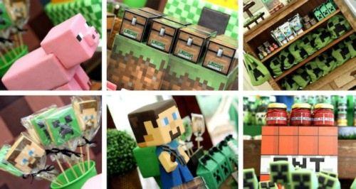 Fiesta de Minecraft con las mejores ideas de decoracion. 14. 22390. Te