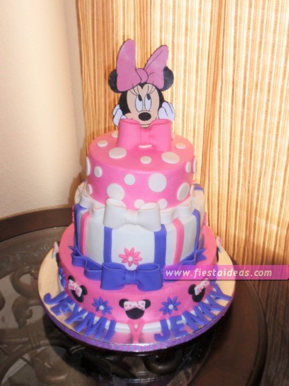 15 Decoraciones de minnie mouse torta pastel