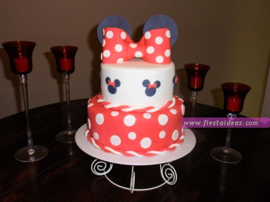 15 Decoraciones de minnie mouse cake