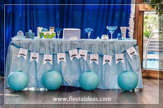 baby shower para ni o con hermosas decoraciones