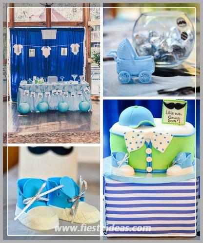 baby shower para niño con hermosas decoraciones