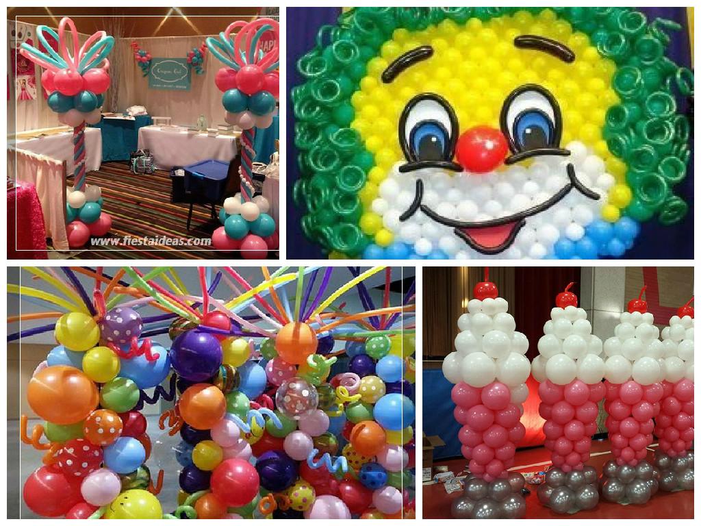 Originales decoraciones con globos  FOTOS y VIDEOS PASO A