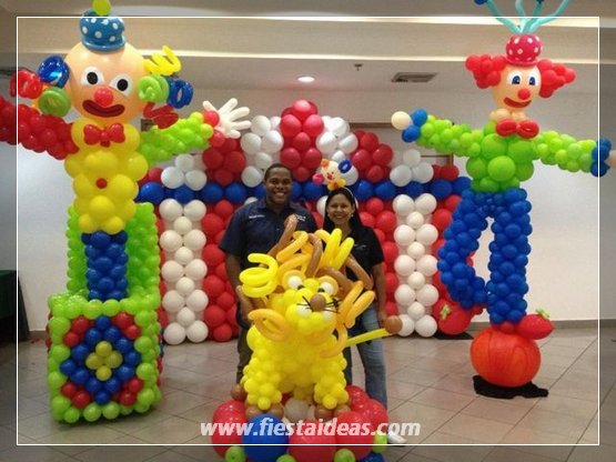 Originales decoraciones con globos de formas espectaculares