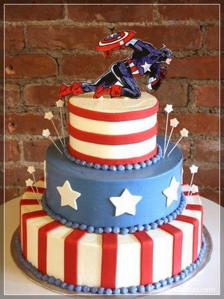 pastel torta del capitán america