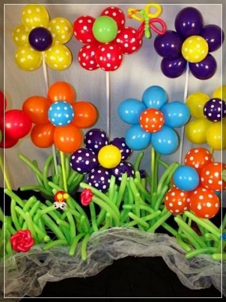20 Decoraciones De Flores Con Globos Super Creativas