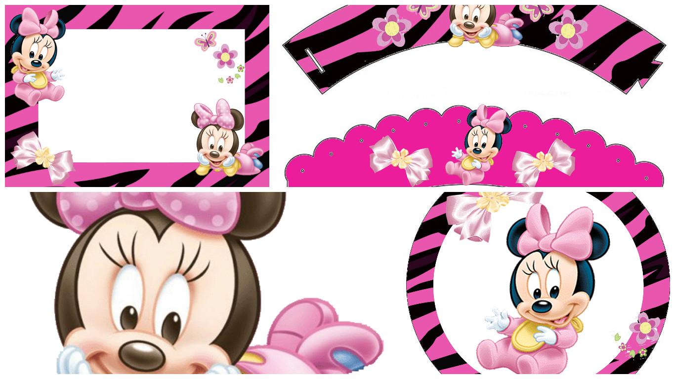 Para Shower Baby Mouse Hacer Como Minnie Invitaciones De