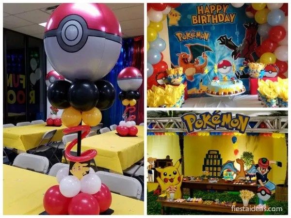 Fiesta pokemon go con decoraciones espectaculares