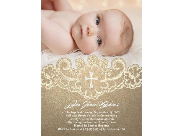 invitaciones para bautizo de niño con foto