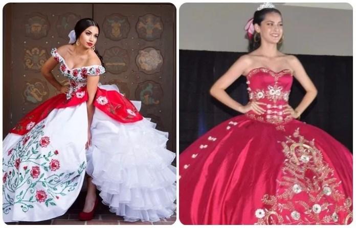 vestidos para quinceañero estilo charro en rojo y blanco