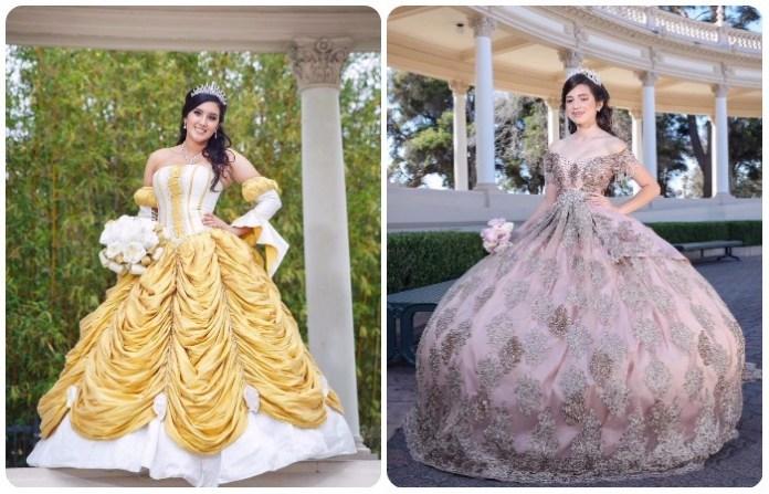 Originales vestidos de 15 años estilo princesa