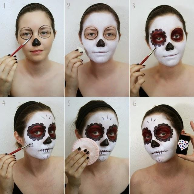 Paso a paso de como maquillarte de catrina para mujer