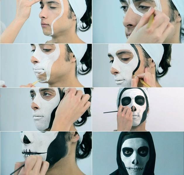 maquillaje de muerto para hombres