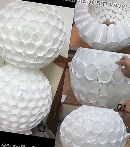 manualidades con vasos de plastico reciclados