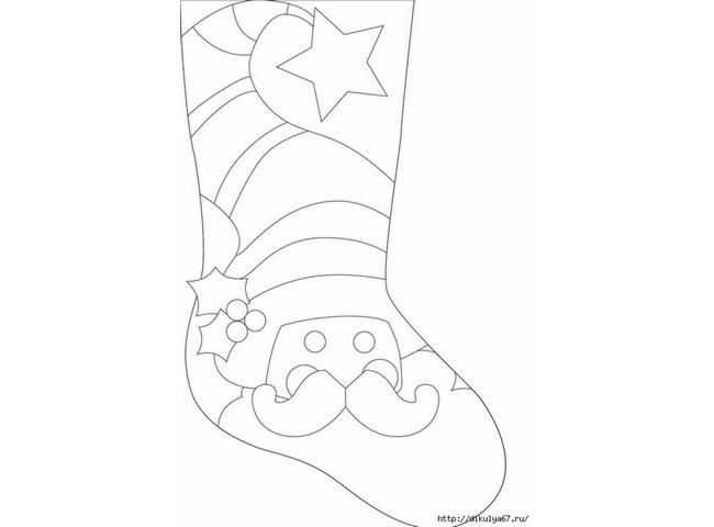 70 ideas de botas navideñas de fieltro con moldes para descargar