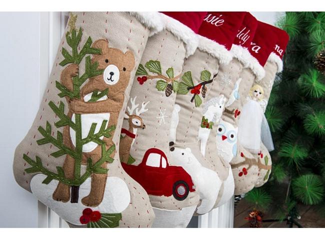 boas navideñas de fieltro con renos y angeles
