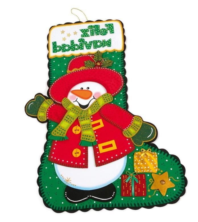 Botas navideñas de foami