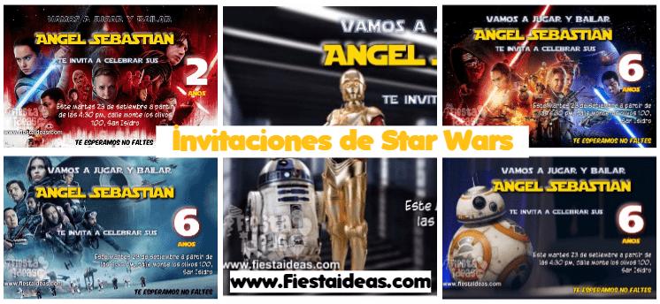 5 Invitaciones De Star Wars Diseños Originales Editables 2018