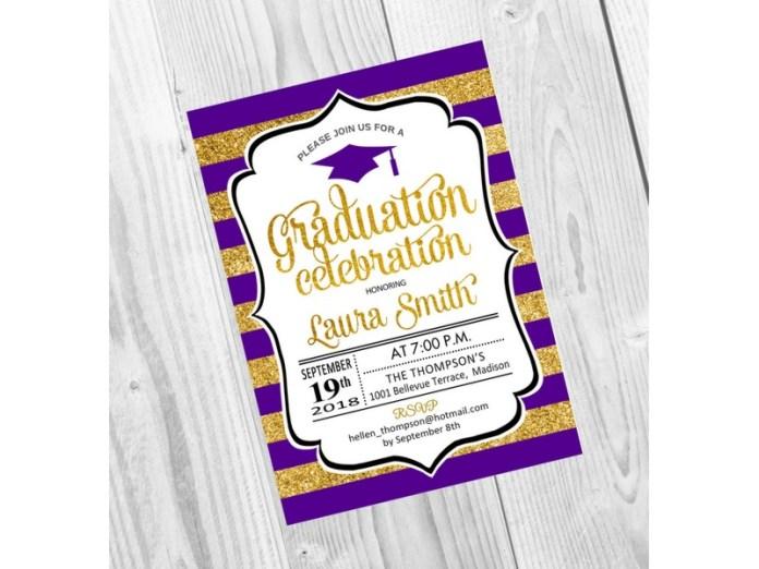 70 Invitaciones De Graduación Para Editar Originales