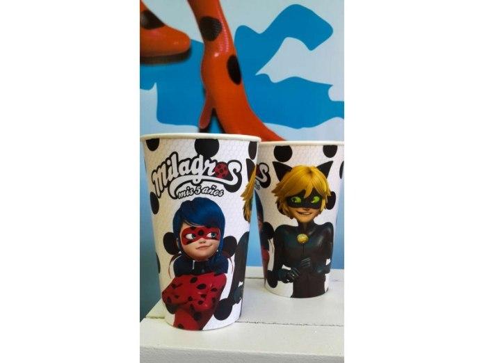 vasos de ladybug y chat noir