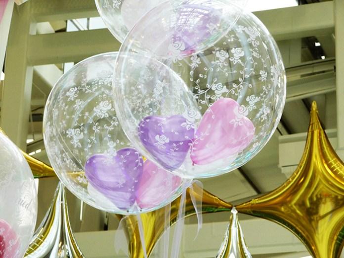 Decoración con globos dentro de globos piñata