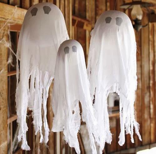 Decoración con globos fantasmagóricos para halloween - noche de brujas