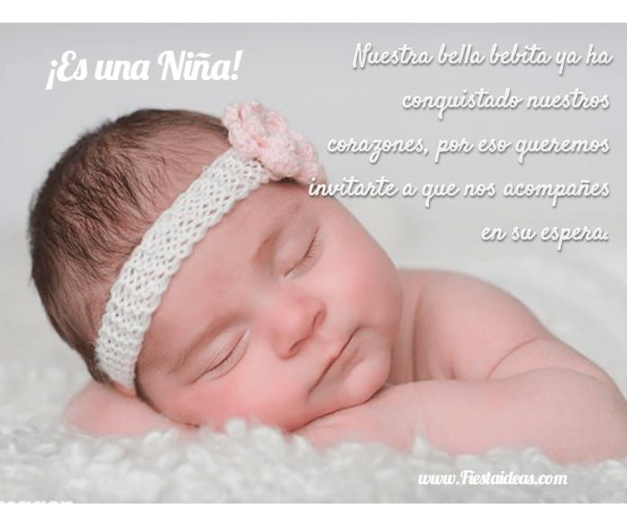 Frases para baby shower de niña