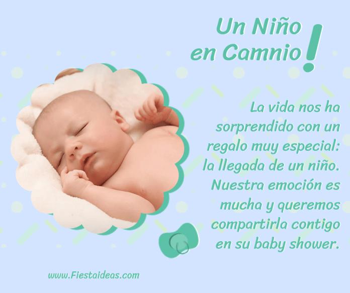 Frases y pensamientos para invitaciones de baby shower niño
