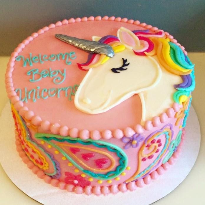 imagenes de pastel de Unicornio sencillas