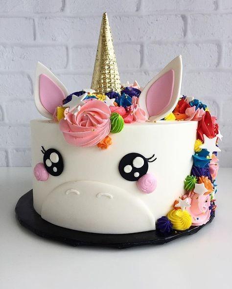 tortas de cumpleaños de unicornio