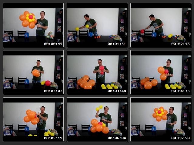 Cómo hacer flores con globos