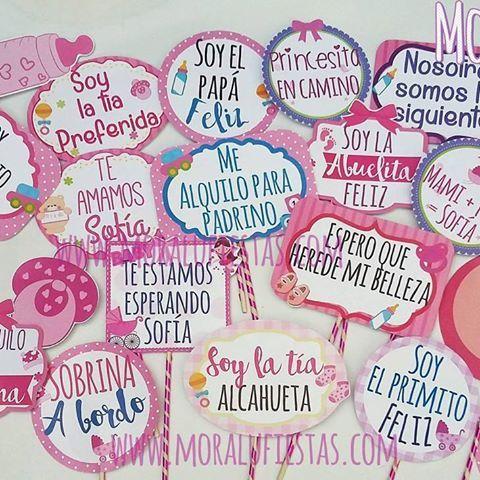 frases para photo booth de baby shower niña