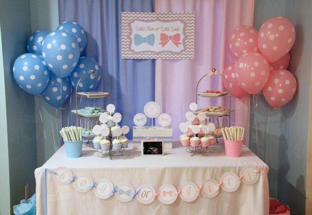 Adornos para baby shower con globos