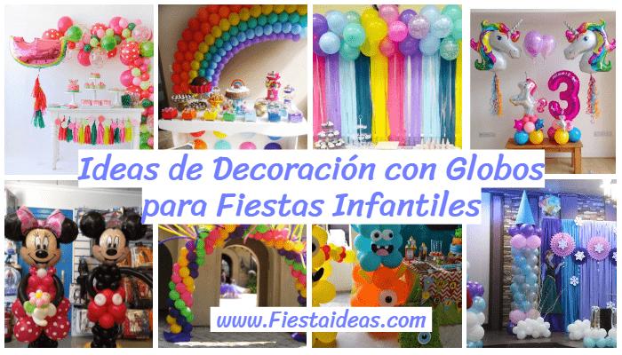 cbe601b4b 30 Decoraciones con globos para fiestas infantiles  Ideas Increibles