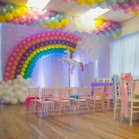 Ideas para fiesta de unicornios salon