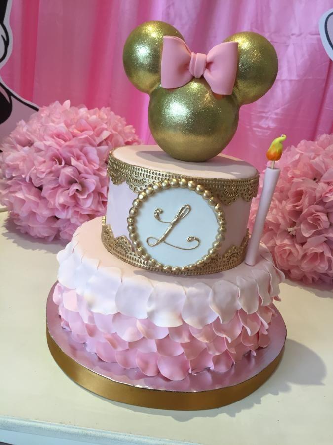 Tortas de Minnie con dorado