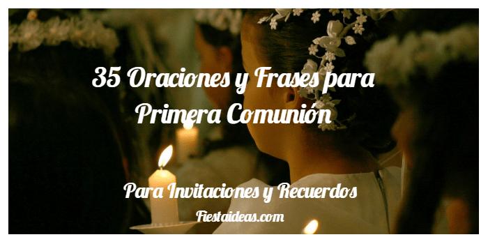35 Oraciones Y Frases Para Primera Comunión Para Invitaciones