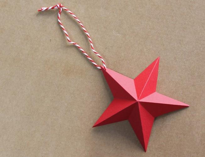 Decorar Estrellas De Navidad En Cartulina.Manualidad De Estrellas De Cartulina De Navidad Hermosa