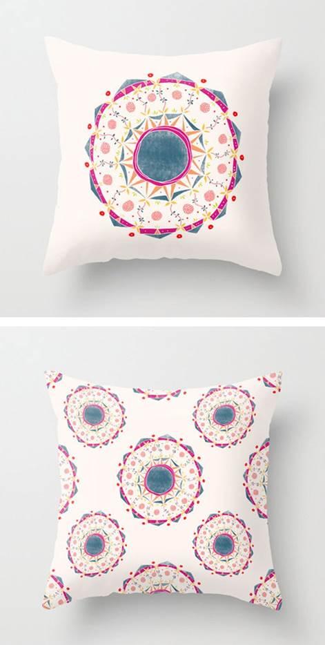 Mandalas textiles para decorar cojines