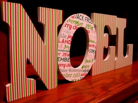 manualidad de Letras navidenas de carton 2