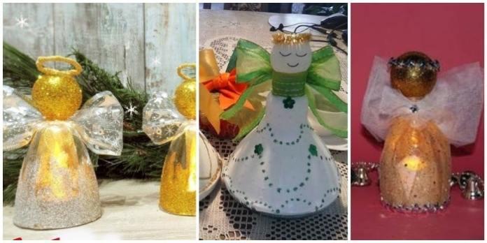 adornos de angeles con copas plasticas final