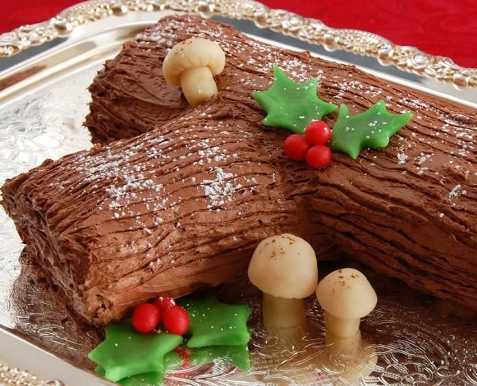 tronco de navidad o navideno preparacion decoracion