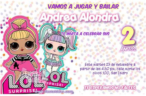 invitacion Lol Surprise serie 1 muñecas mayores con accesorios