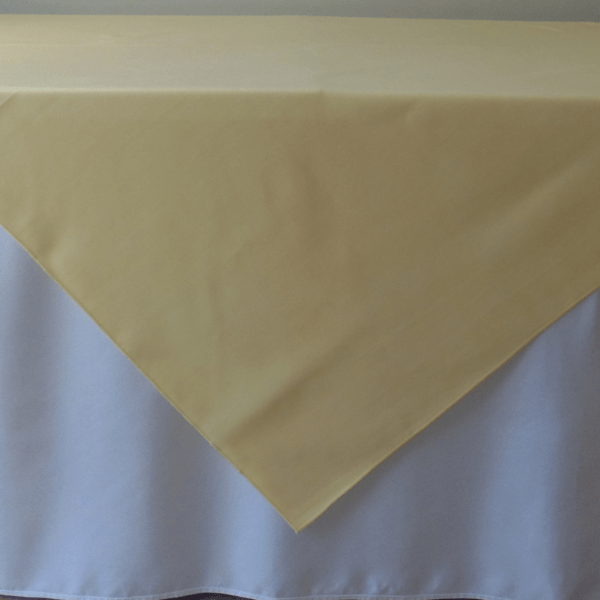 chair covers rental ottawa nice leather chairs overlay – poly maize 70×70 fiesta