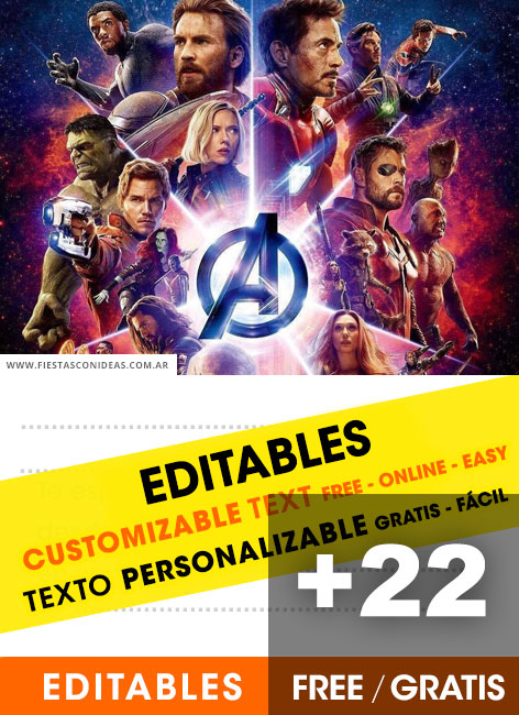 21 free avengers birthday invitations