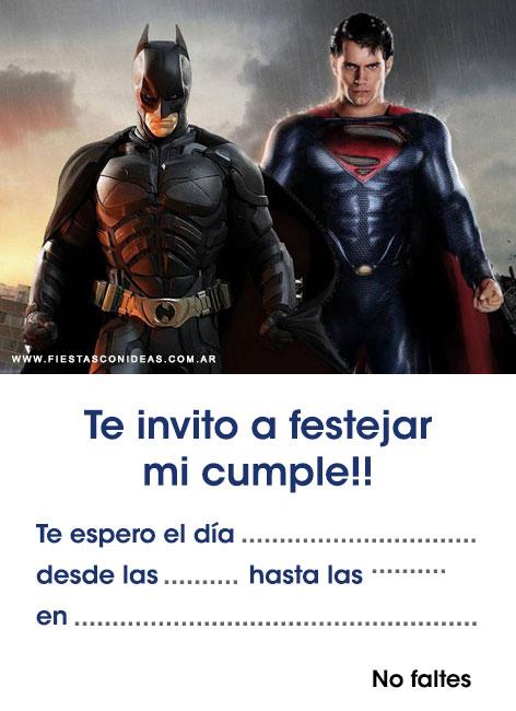 6 free batman birthday invitations for