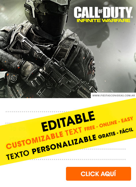 free call of duty birthday invitations