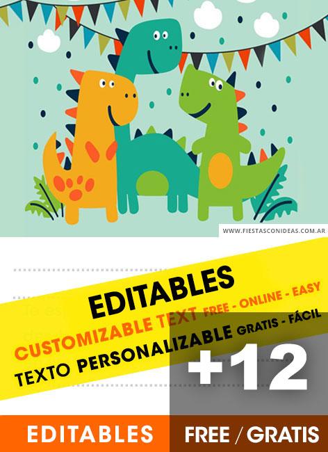 dinosaurs for kids birthday invitations