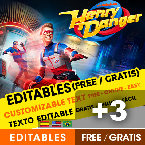 free henry danger birthday invitations