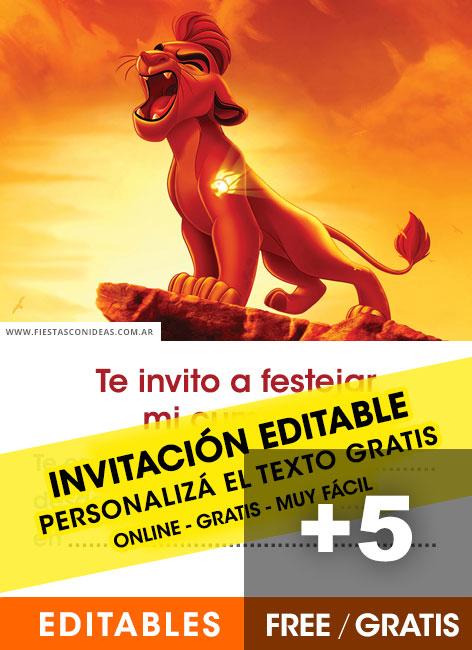 the lion guard birthday invitations